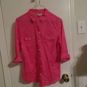 Hot pink Old Navy button down, looks new No tags